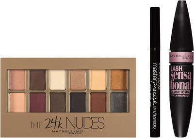 Maybelline New York NY Minute 24k Nudes Smoky Eye Makeup Gift Set