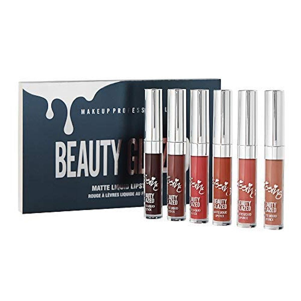 Beauty Glazed Matte Liquid Waterproof Lipstick Set (6-Piece Set)