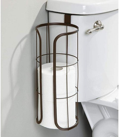 mDesign Over The Tank Hanging Toilet Paper Holder