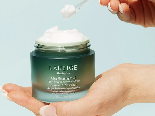 Laneige's new Cica Sleeping Mask helps soothe redness