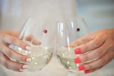 Swarovski Crystal Magnetic Wine Glass Charms (12-Pack)