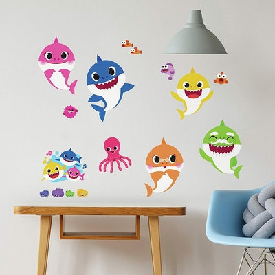 RoomMates Baby Shark Peel And Stick Wall Decals