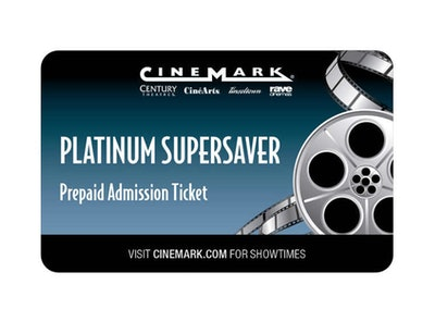 Cinemark Theatres Platinum Supersaver Movie eTickets