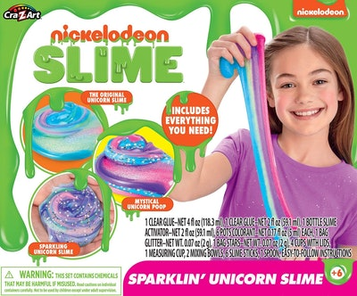 Cra-Z-Art Nickelodeon Ultimate DIY Unicorn Arts & Crafts Slime Kit