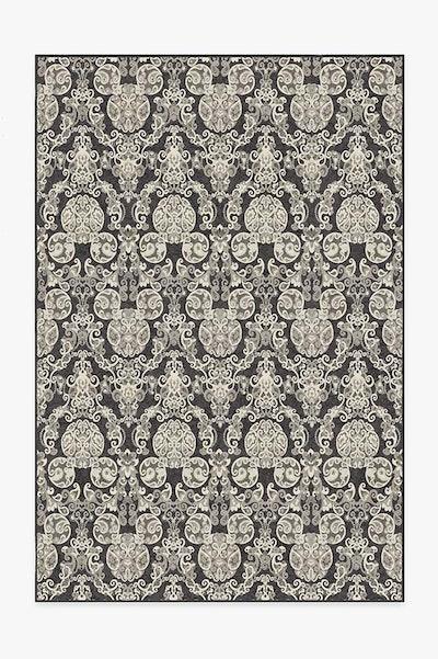 Mickey Damask Charcoal Rug (5x7)