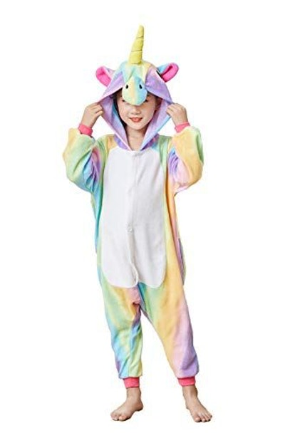 Kids' Unisex Animal Onesie Unicorn Pajamas