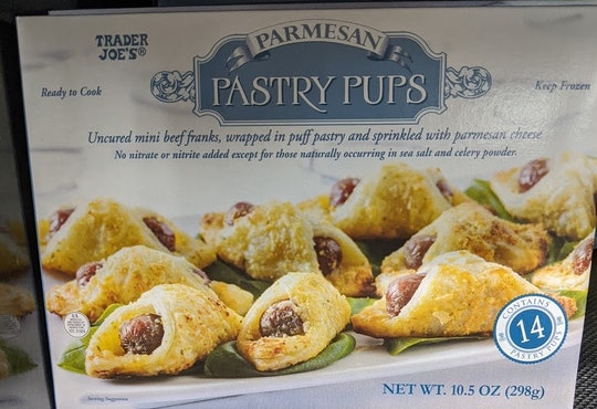 best frozen appetizers from trader joe's: parmesan pastry pups aka pigs in a blanket