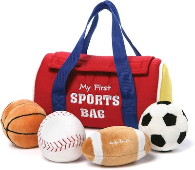 GUND Baby My First Sports Bag Stuffed Plush Playset