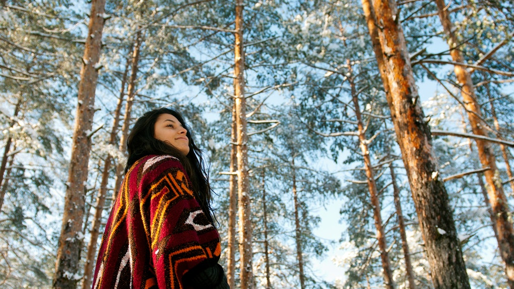 Woman in winter, Capricorn season 2019