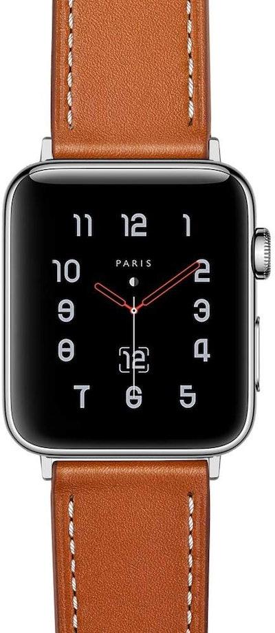 amBand Genuine Leather Apple Watch Strap, Brown