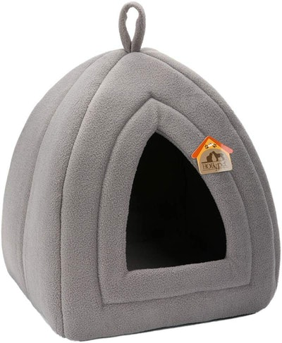 Hollypet Self-Warming 2-in-1 Foldable Cat Bed