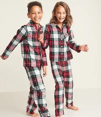 Printed Twill Pajama Set for Kids