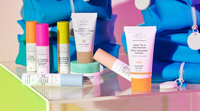 Drunk Elephant's top-rated products include Marula oil, B-Hydra serum, T.L.C. Framboos serum, and more