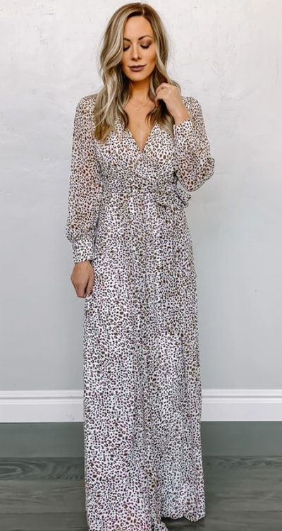 Lydia Maxi Dress in Animal Print