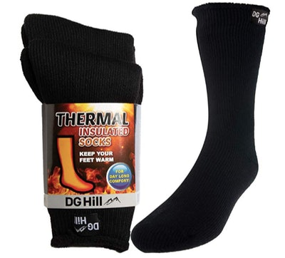 DG Hill Insulated, Thermal Boot Socks (2 Pairs)