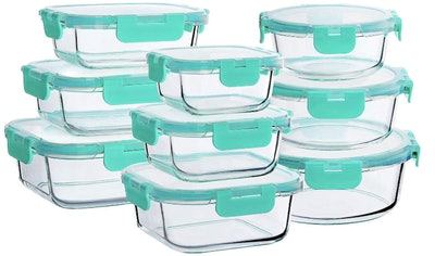 Bayco Glass Food Storage Containers with Lids (18 Pieces)
