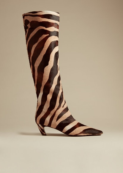 The Davis Boot In Zebra Haircalf