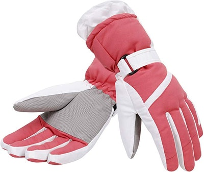 Simplicity Women's Thinsulate Insulated Lined Waterproof Ski Gloves