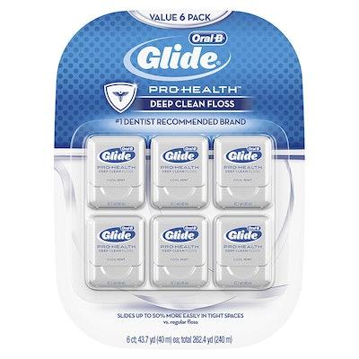 Oral-B Glide Pro-Health Deep Clean Mint Floss (6-Pack)