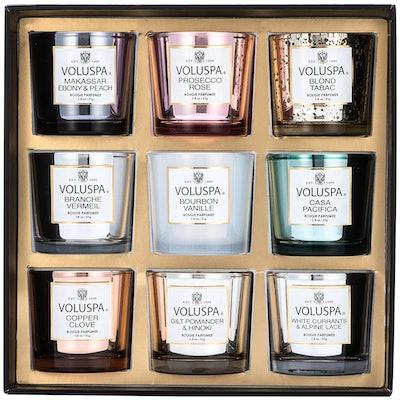 Voluspa Holiday Nine Piece Votive Candle Set