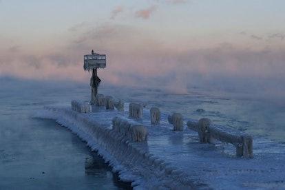 Lake Michigan at 39th Street Harbor in Chicago, Jan. 30, 2019.