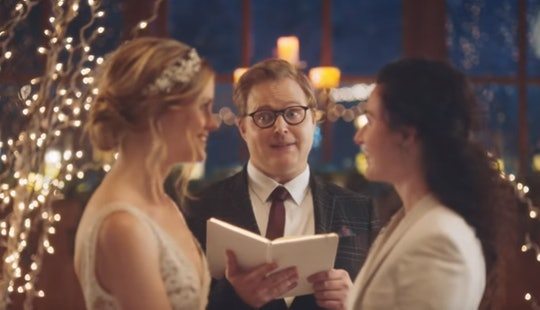 A commercial from wedding planning site Zola.com has been reinstated by Hallmark and not everyone is happy.