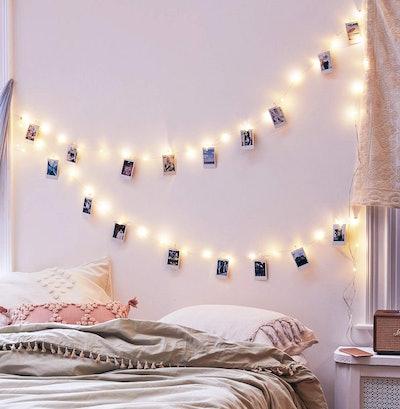 EZDC 50 LED Christmas Photo Clip String Lights