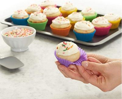 AmazonBasics Reusable Baking Cups (12-Pack)