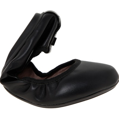 Butterfly Twists Black Foldable Sophie Ballerina Pumps