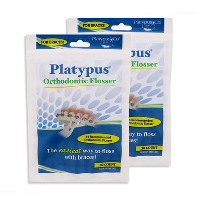 Platypus Orthodontic Flossers For Braces (30-Pack, Set Of 2)