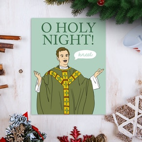 Fleabag Hot Priest Holiday Greeting Card