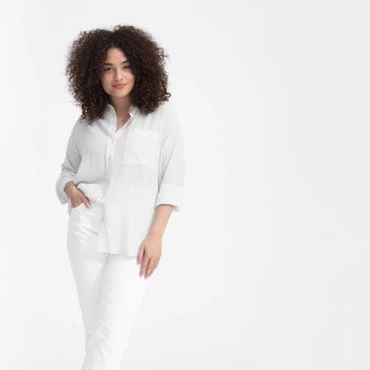Clean Silk Oversized Shirt