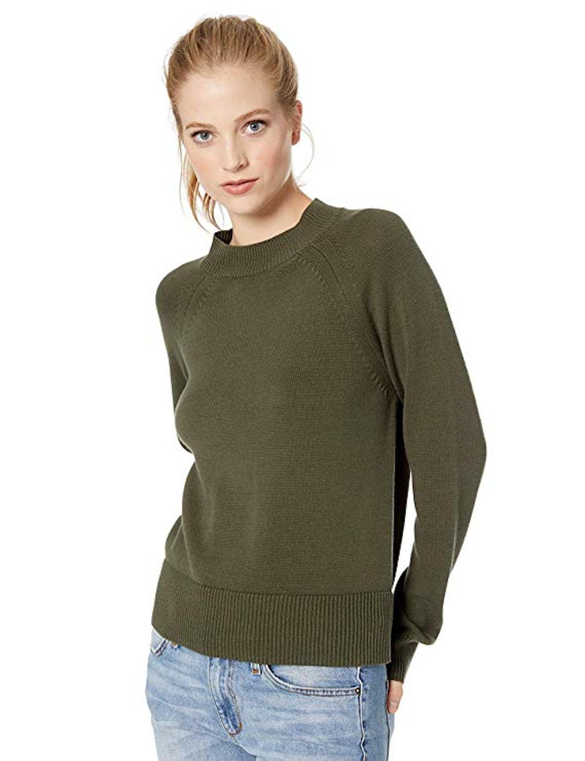 Daily Ritual Cotton Mock Neck Pullover