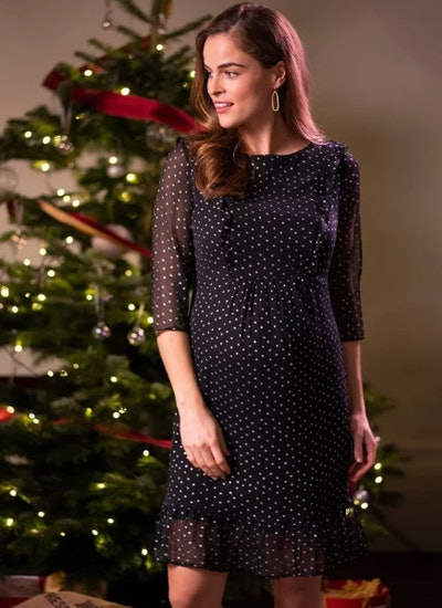 Starry Night Maternity & Nursing Dress