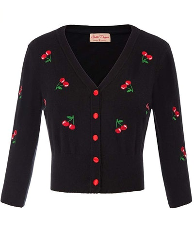 Belle Poque Embroidered Cropped Cardigan