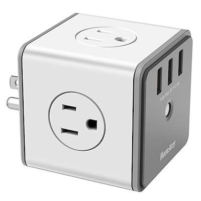 Huntkey Cubic Surge Protector USB Wall Adapter