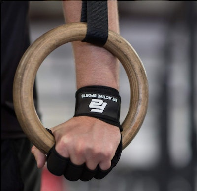 Fit Active Sports Ventilated Weightlifting Gloves With Built-In Wrist Wraps