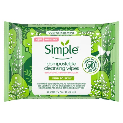 Simple Kind to Skin Compostable Cleansing Wipes