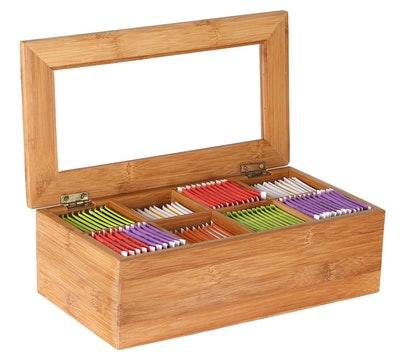Estilo Bamboo Tea Storage Box
