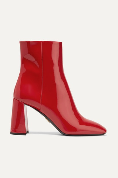 85 Patent-Leather Ankle Boots