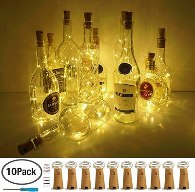 LoveNite Wine Bottle Lights (10-Pack)