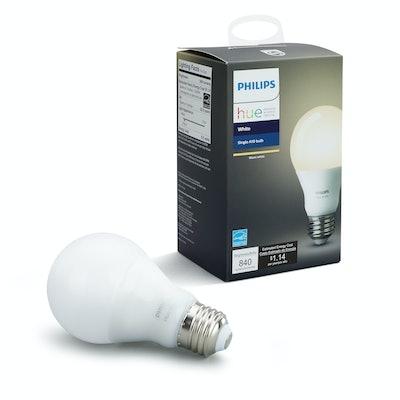 Philips Hue White A19 Smart Light Bulb, 60W LED, 1-Pack