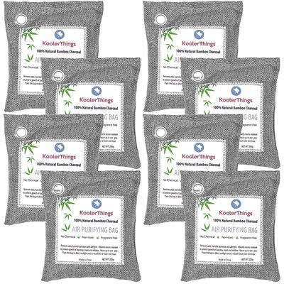 KoolerThings Bamboo Charcoal Air Purifying Bags (8 Pack)