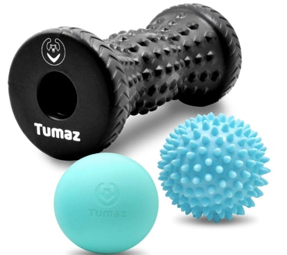 Tumaz Massage Ball & Foot Roller 3-in-1 Set