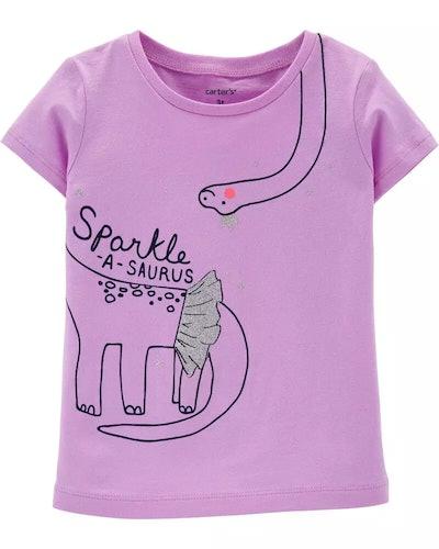 Carter's Baby Sparkle Dinosaur Jersey Tee
