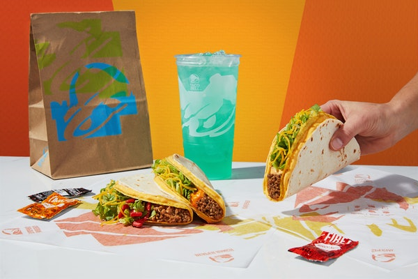 Taco Bell's $1 Double Stacked Tacos Are Back, but this time you get two new flavors, including Nacho Cheese and Reaper Ranch.