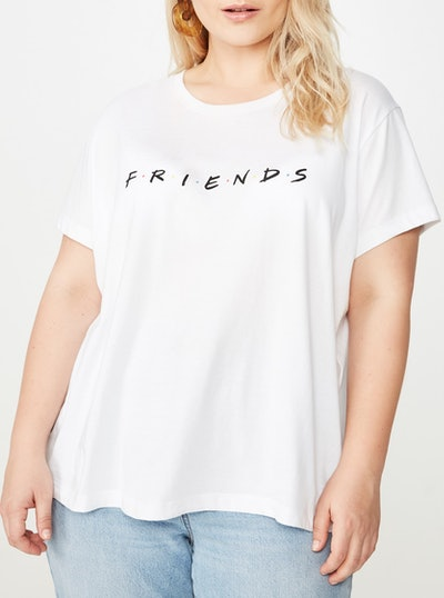 Cotton On Curve 'Friends' Graphic T-Shirt