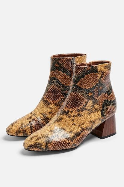BABE Snake Heeled Boots