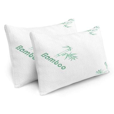Plixio Memory Foam Bed Pillows (2 Pack)