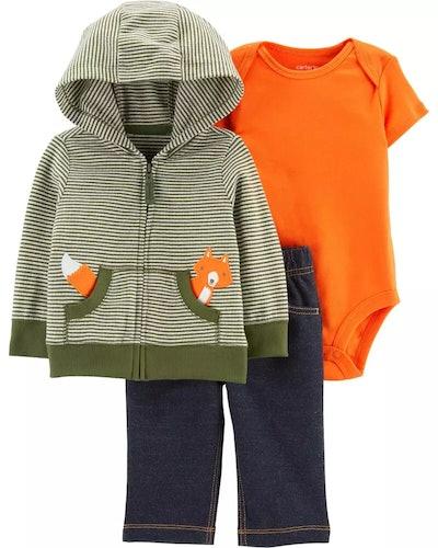 Carter's Baby 3-Piece Fox Little Jacket Set